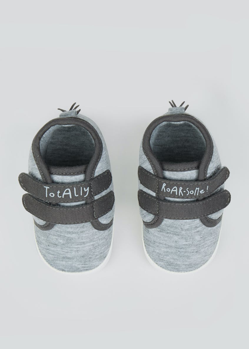 Unisex Soft Sole Slogan Baby Trainers (Newborn-18mths)