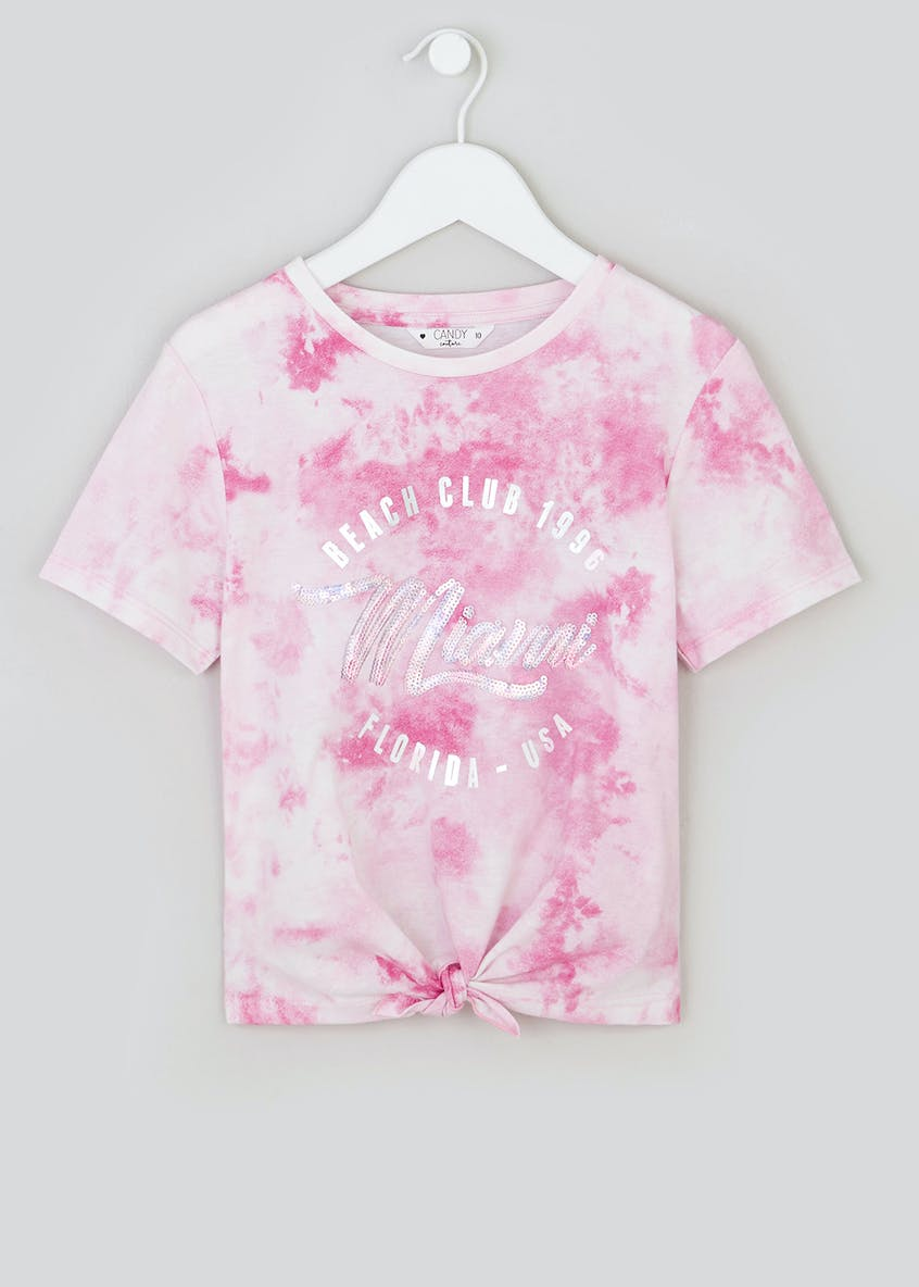 Girls Candy Couture Tie Dye T-Shirt (9-16yrs)