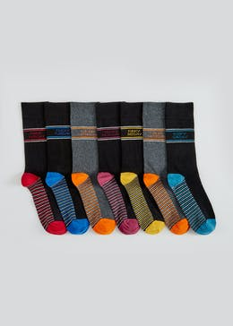 7 Pack Cotton Rich Days of the Week Socks