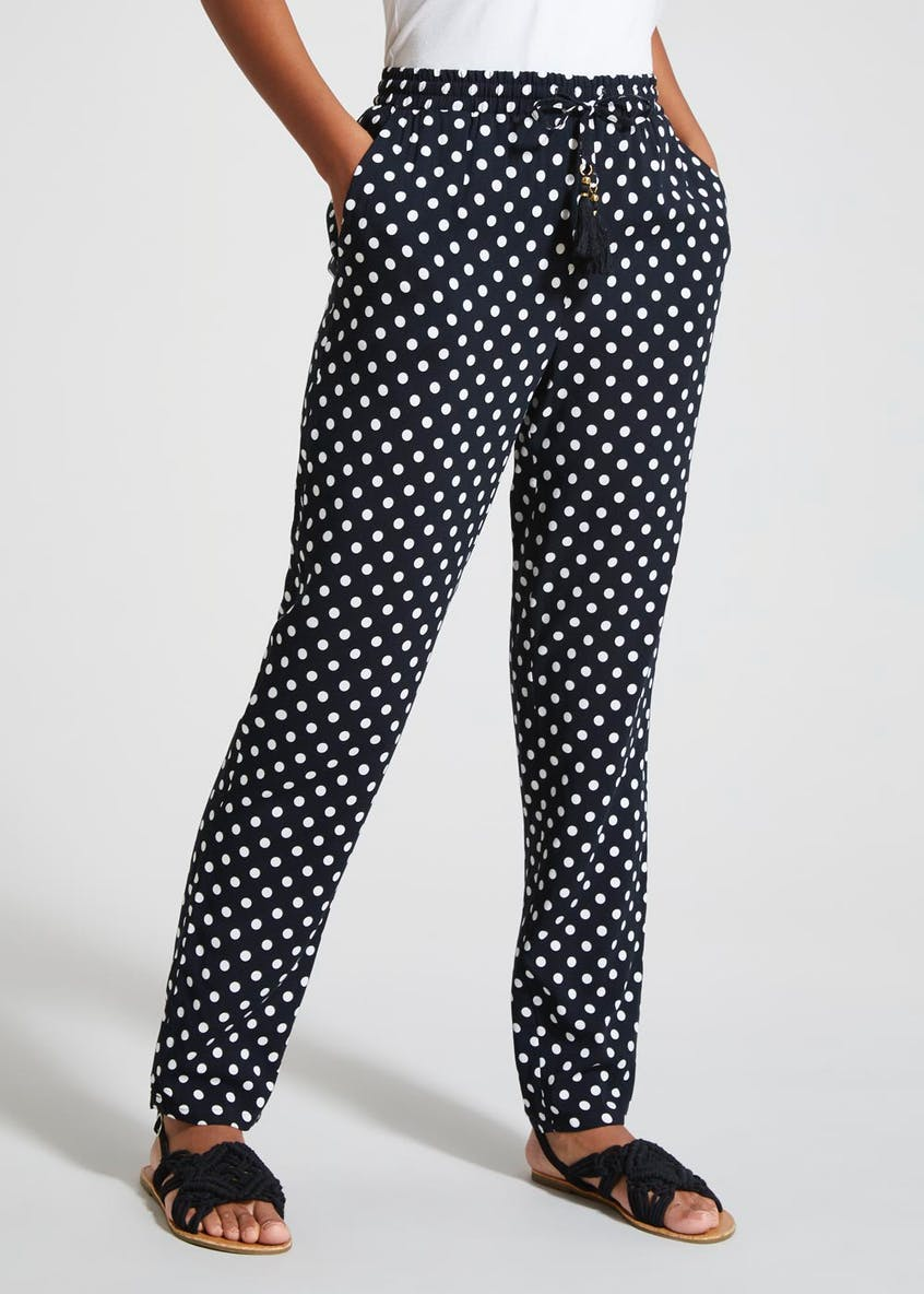 Polka Dot Tapered Trousers