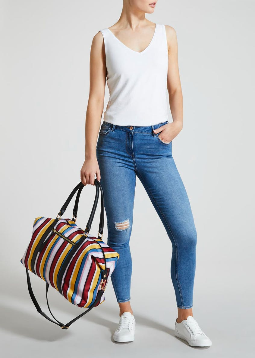 Stripe Weekend Bag