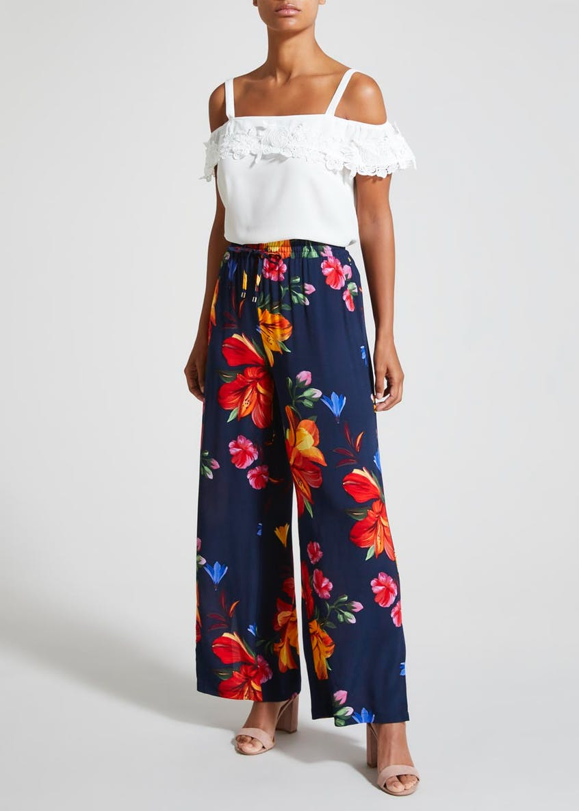 Soon Floral Wide Leg Trousers
