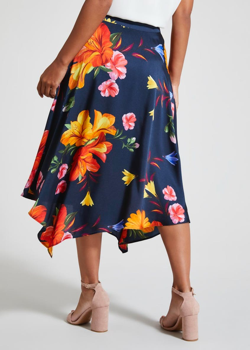 Soon Floral Asymmetric Skirt
