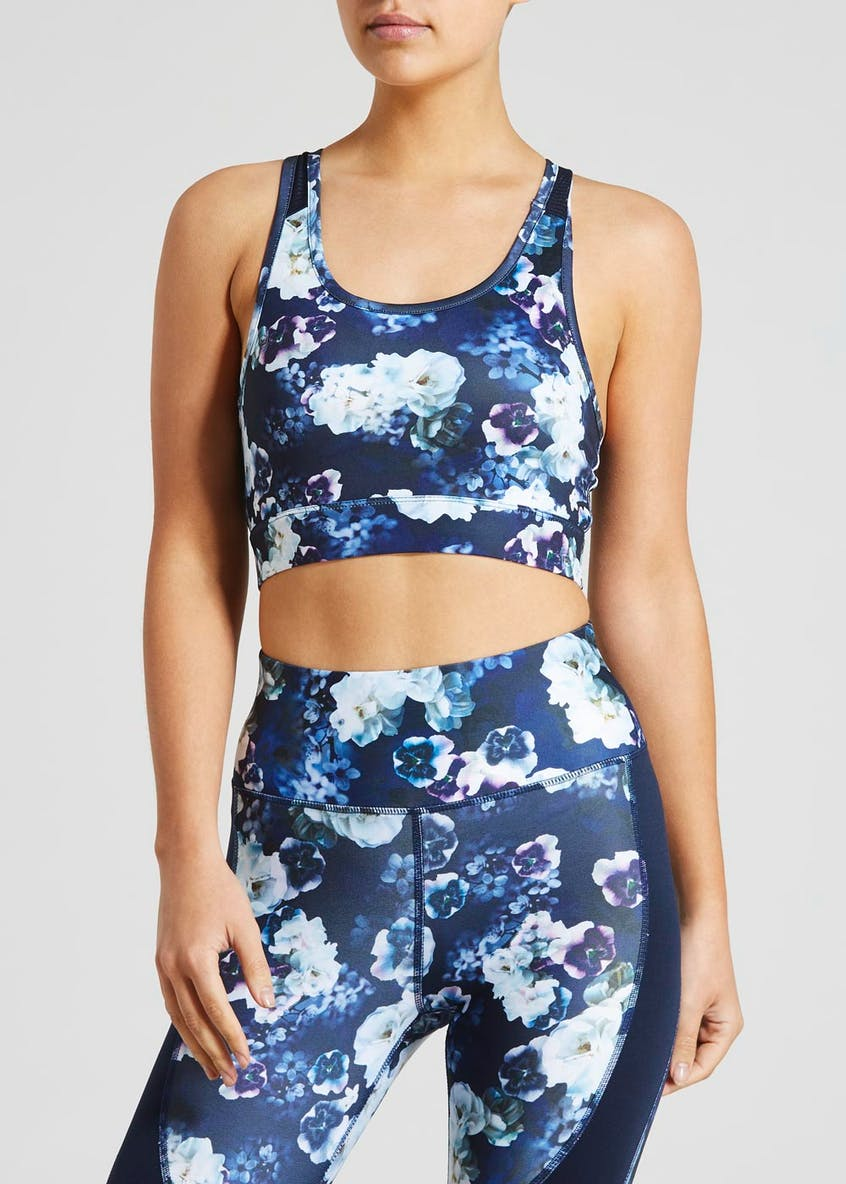 Souluxe Floral Sports Crop Top