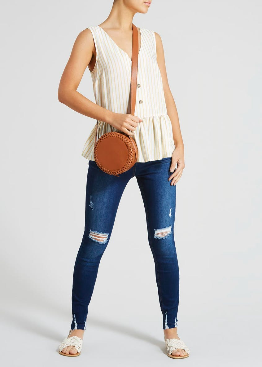 Criss-Cross Circle Cross-Body Bag