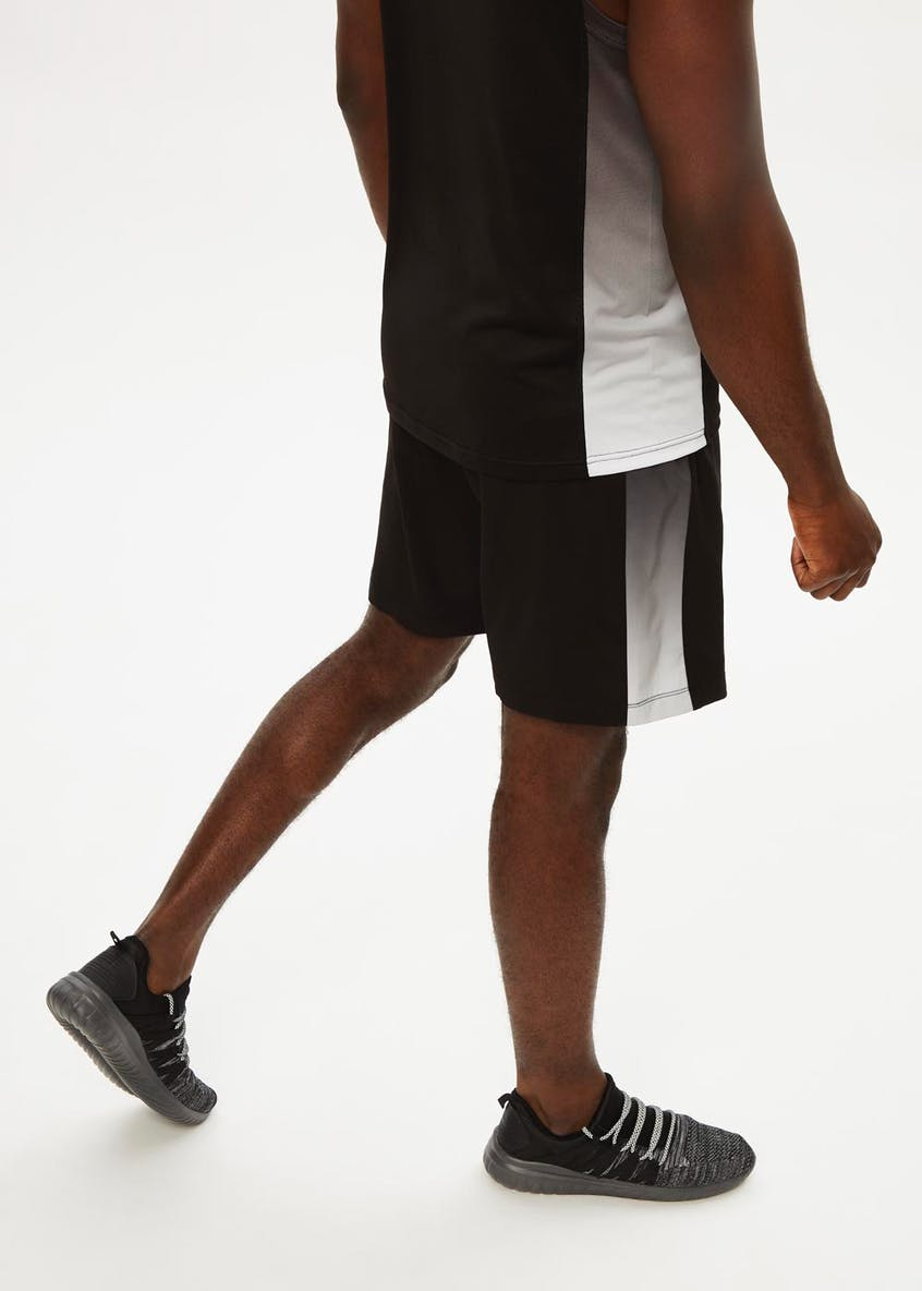 Souluxe Ombre Panel Woven Gym Shorts