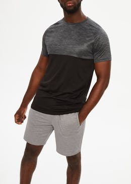 Souluxe Marl Panel Gym T-Shirt