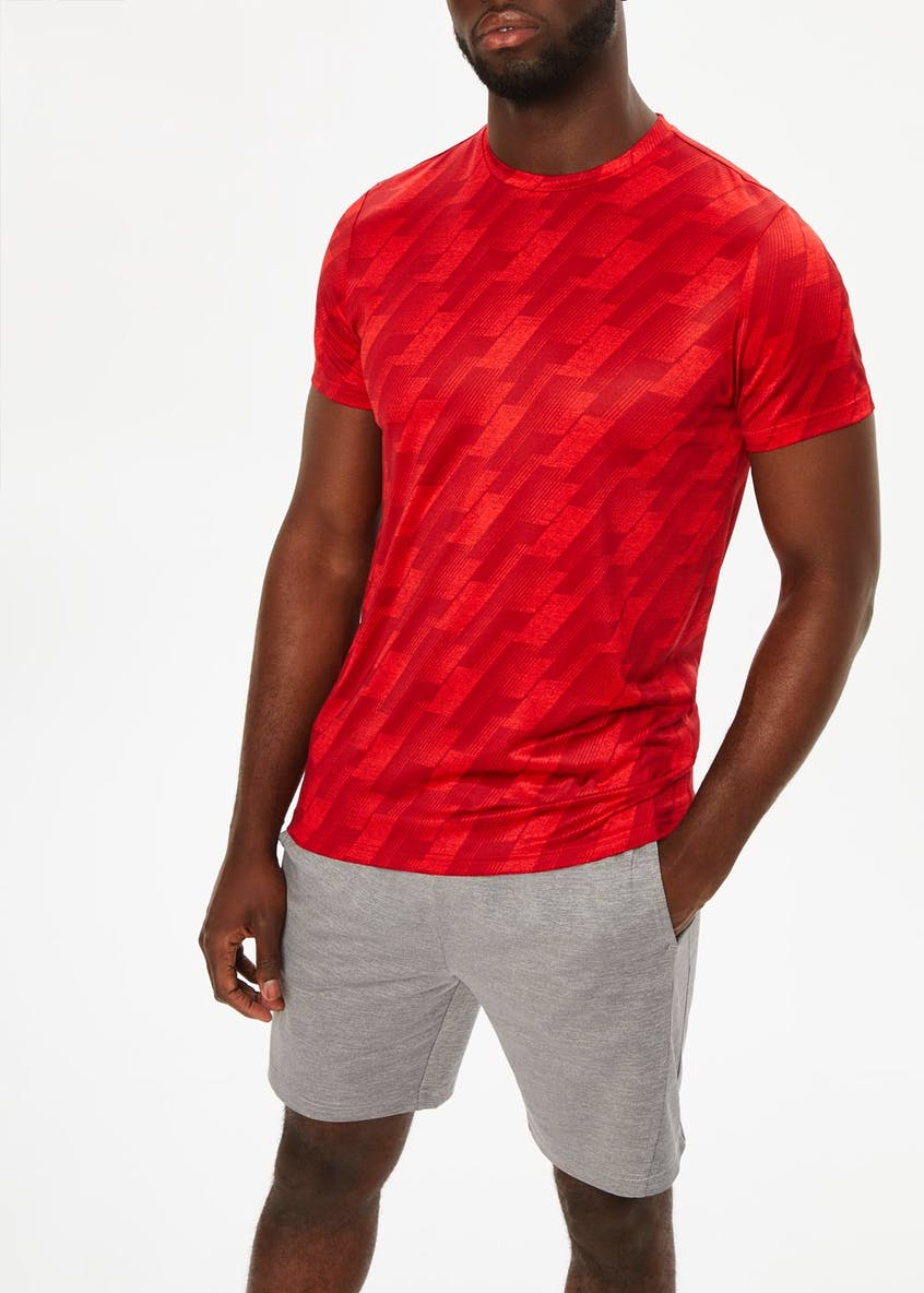 Souluxe Printed Gym T-Shirt
