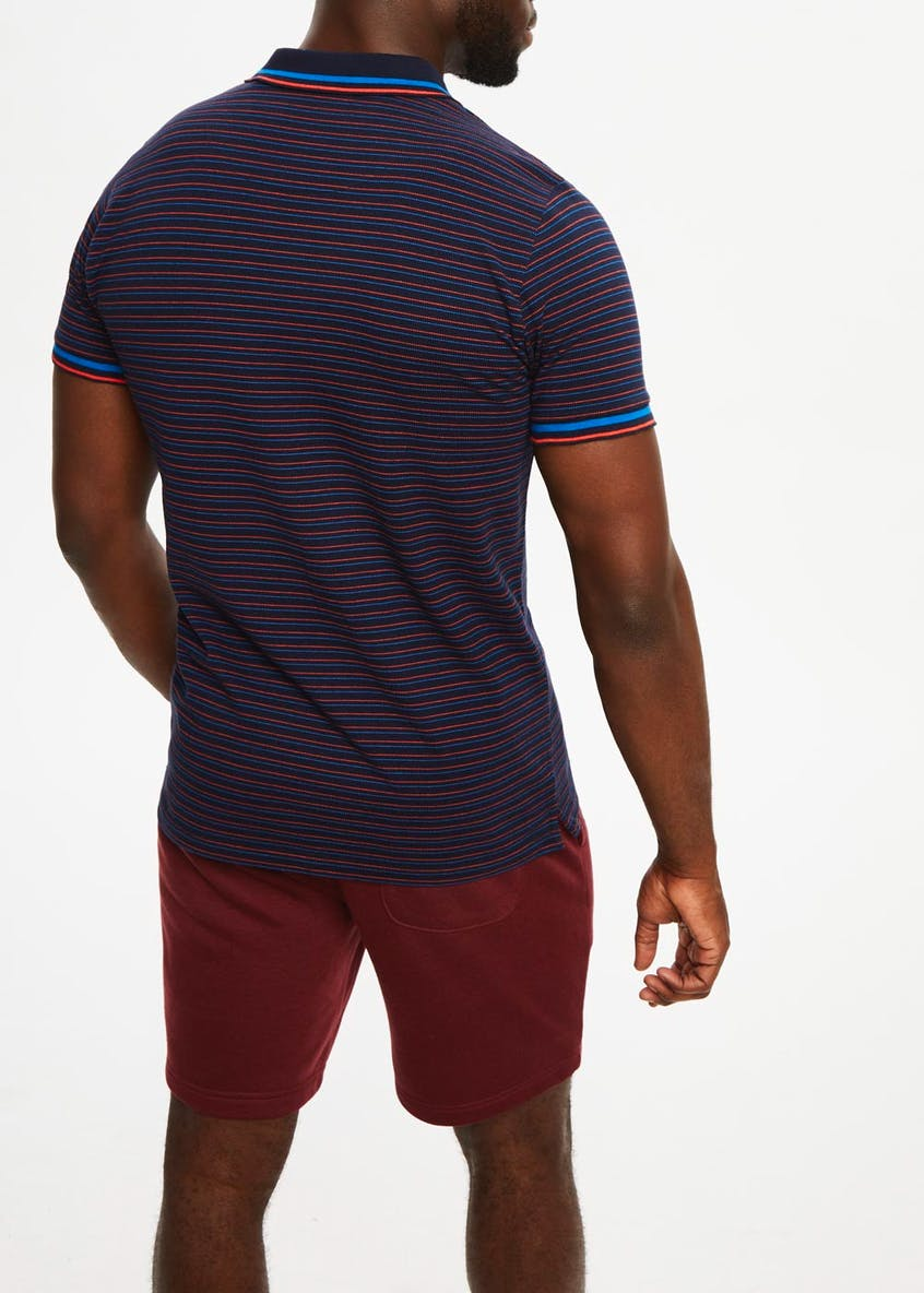 US Athletic Short Sleeve Stripe Polo Shirt