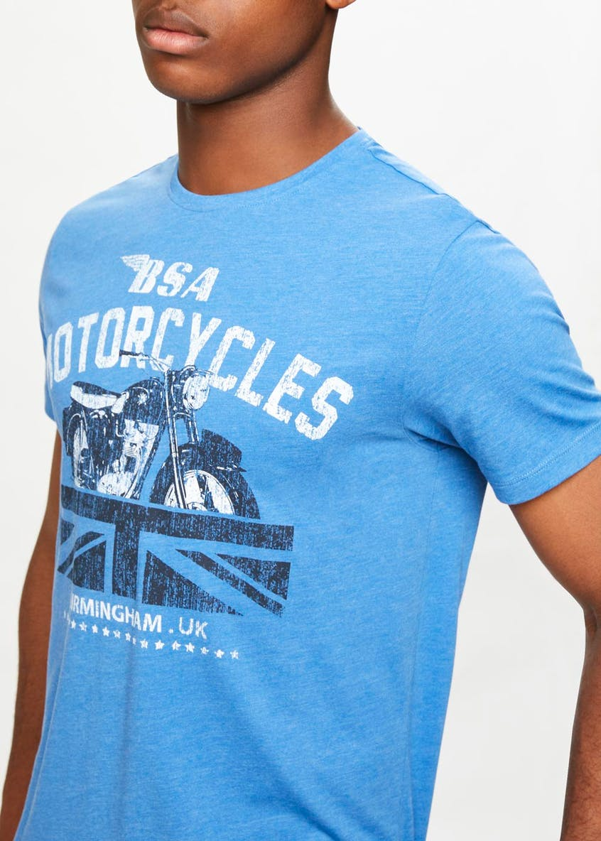 Motorcycle Graphic Print T-Shirt