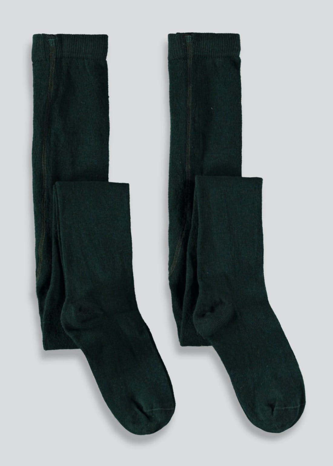 Girls 2 Pack Green School Tights (2-11yrs)