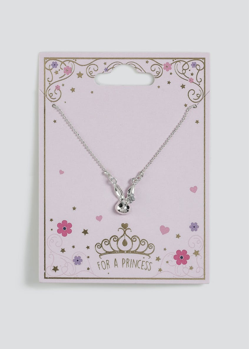 Girls 'For a Princess' Bunny Necklace