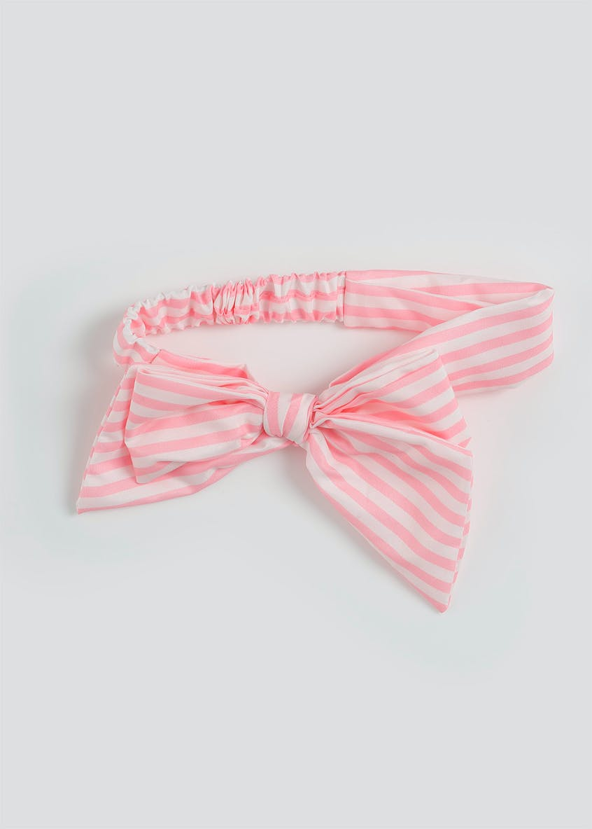 Girls Striped Bow Bandeau
