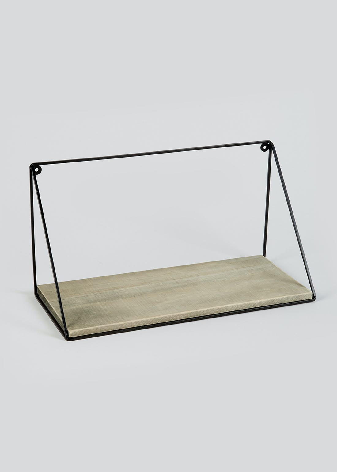 Wood & Metal Shelf (42cm x 22cm x 18cm)