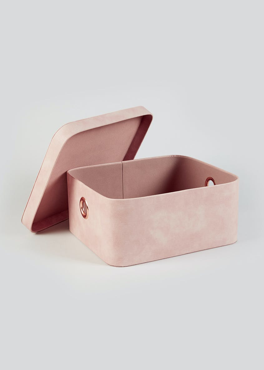 Faux Leather Storage Box (45cm x 30cm x 15cm)