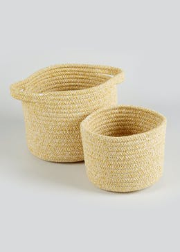 2 Pack Rope Storage Baskets