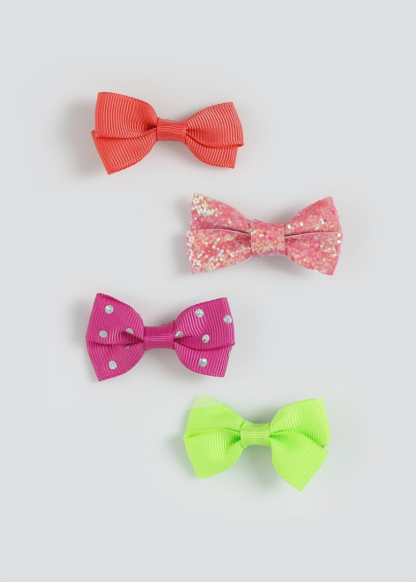 Girls Bright 4 Pack Bows