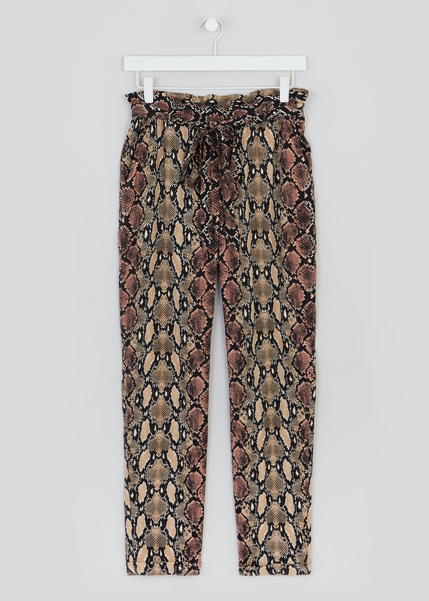 Snake Print Tapered Trousers