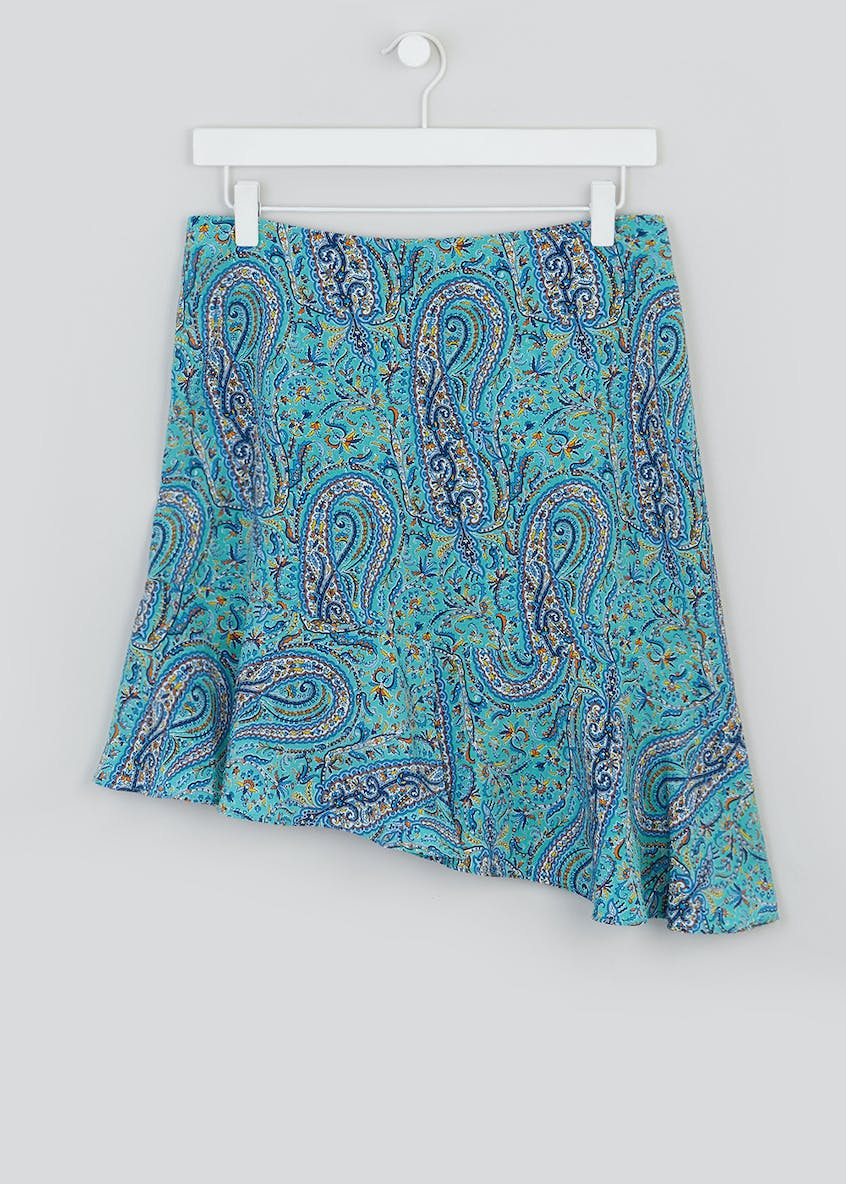 Paisley Scarf Print Asymmetric Co-Ord Skirt