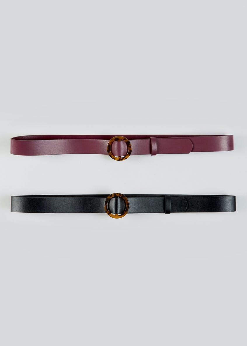 2 Pack Tortoiseshell Ring Belts