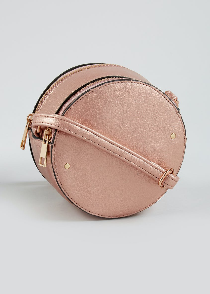 Metallic Circle Cross-Body Bag