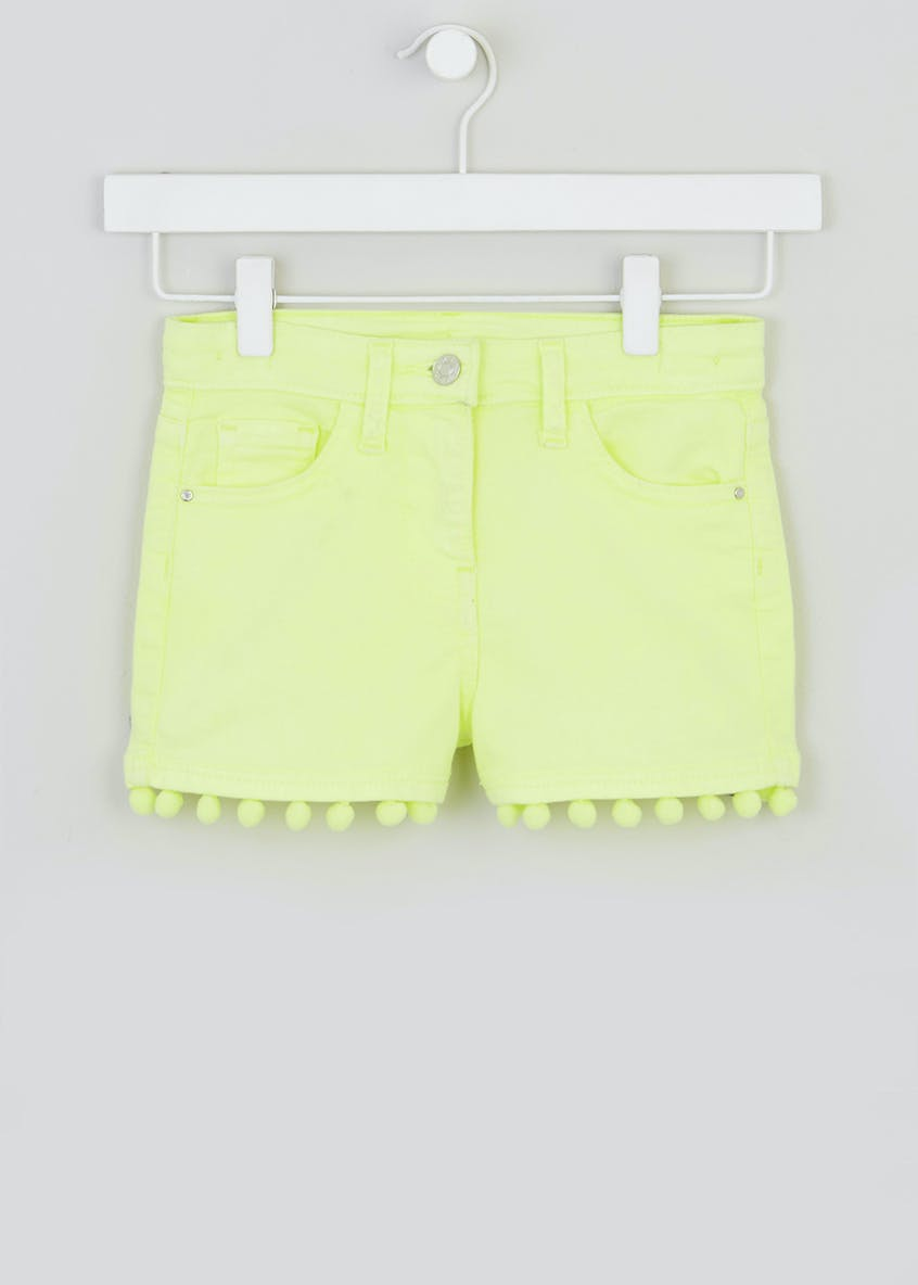 Girls Pom Pom Denim Shorts (4-13yrs)