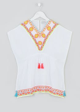 Girls Embroidered Tassel Kaftan (4-13yrs)