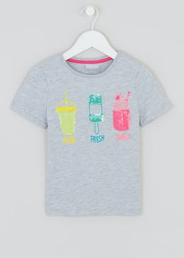 Girls Sequin Ice Lolly T-Shirt (4-13yrs)