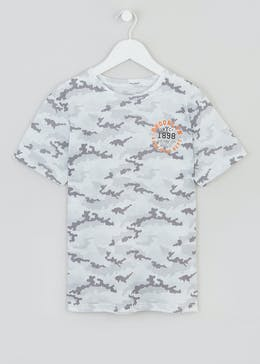 Boys Camo Print T-Shirt (9-16yrs)