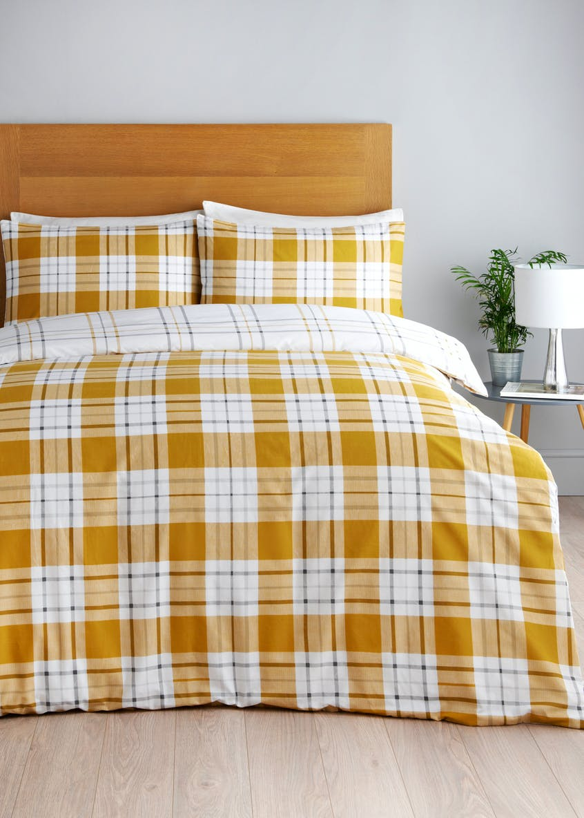 Check Duvet Cover