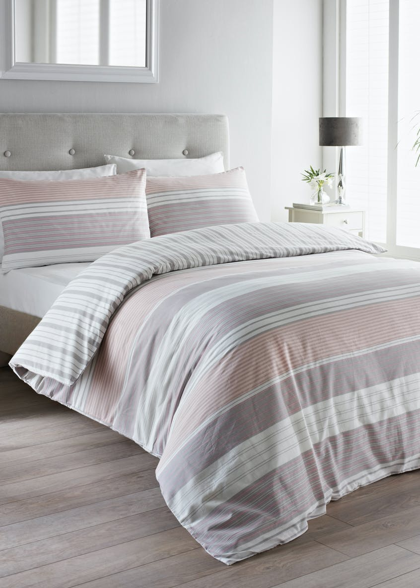 100% Cotton Stripe Duvet Cover