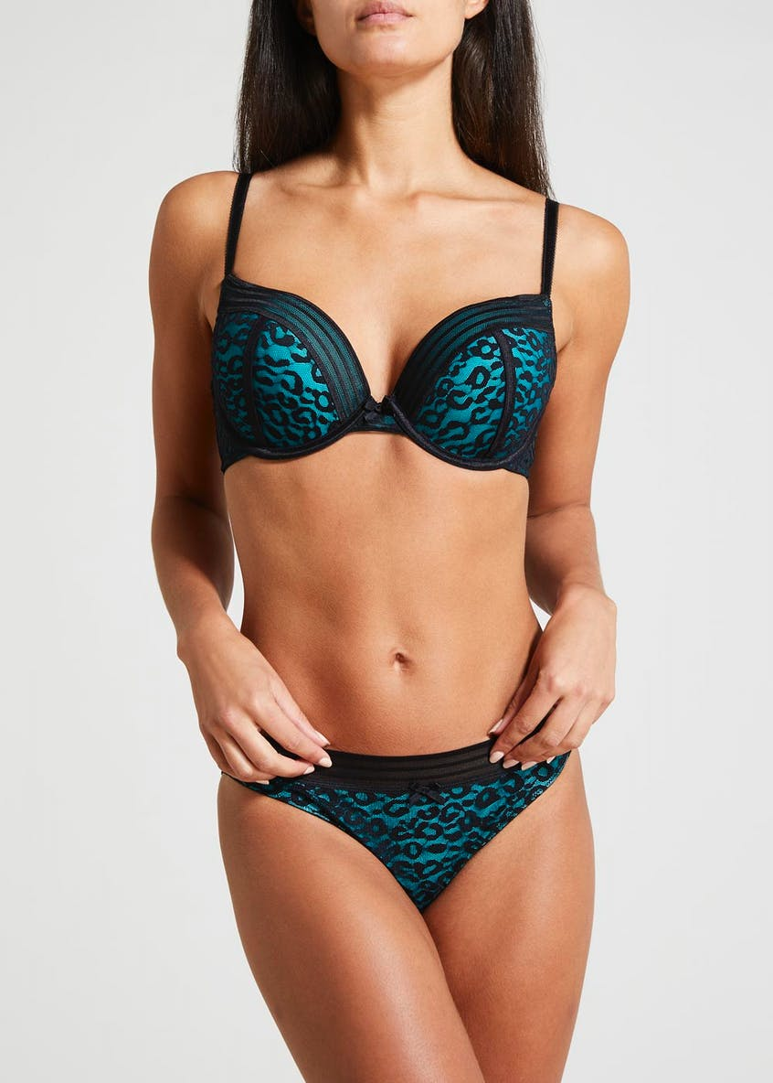 Super Enhance Leopard Print Bra