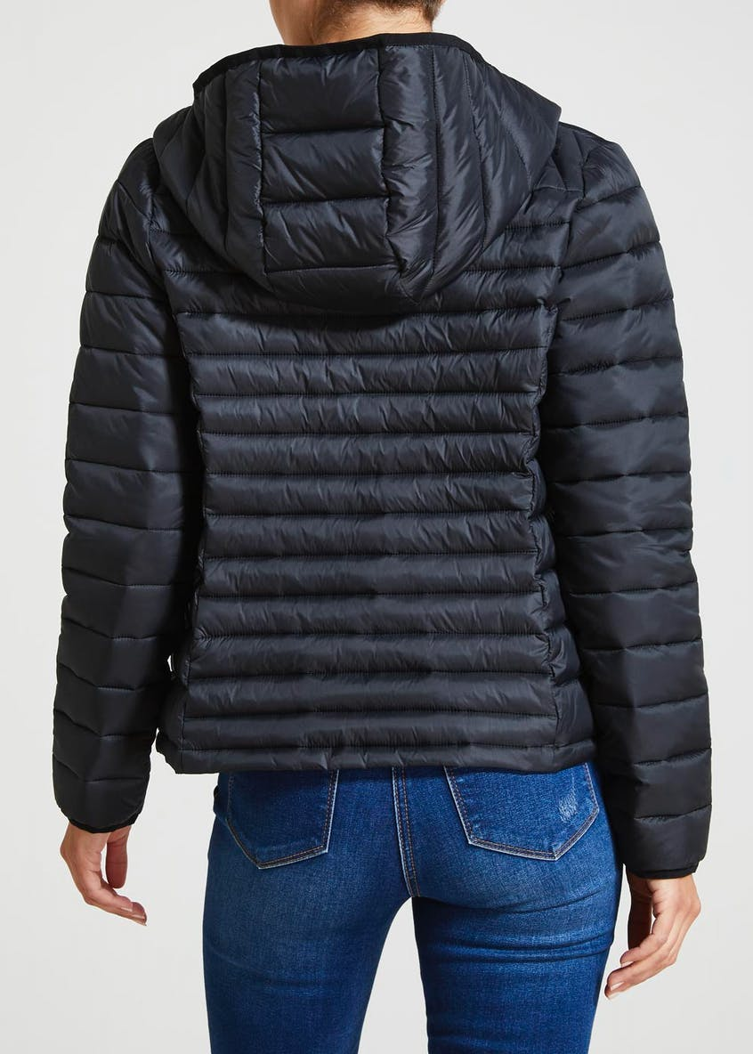 Lightweight Short Padded Hooded Coat