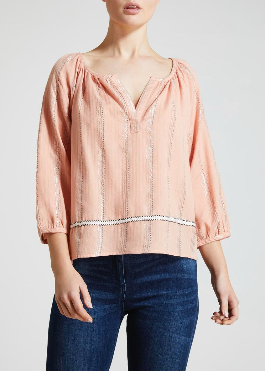 Falmer Metallised Stripe Blouse