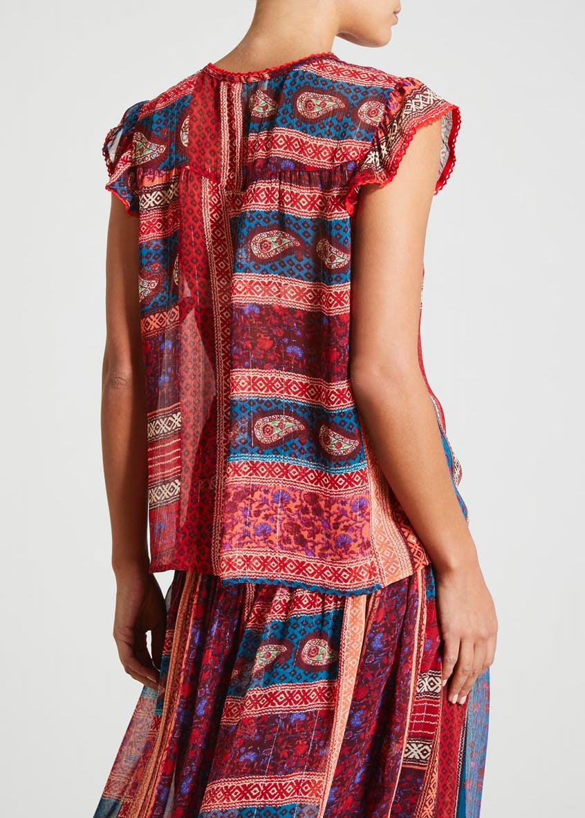 Falmer Patchwork Paisley Co-Ord Blouse