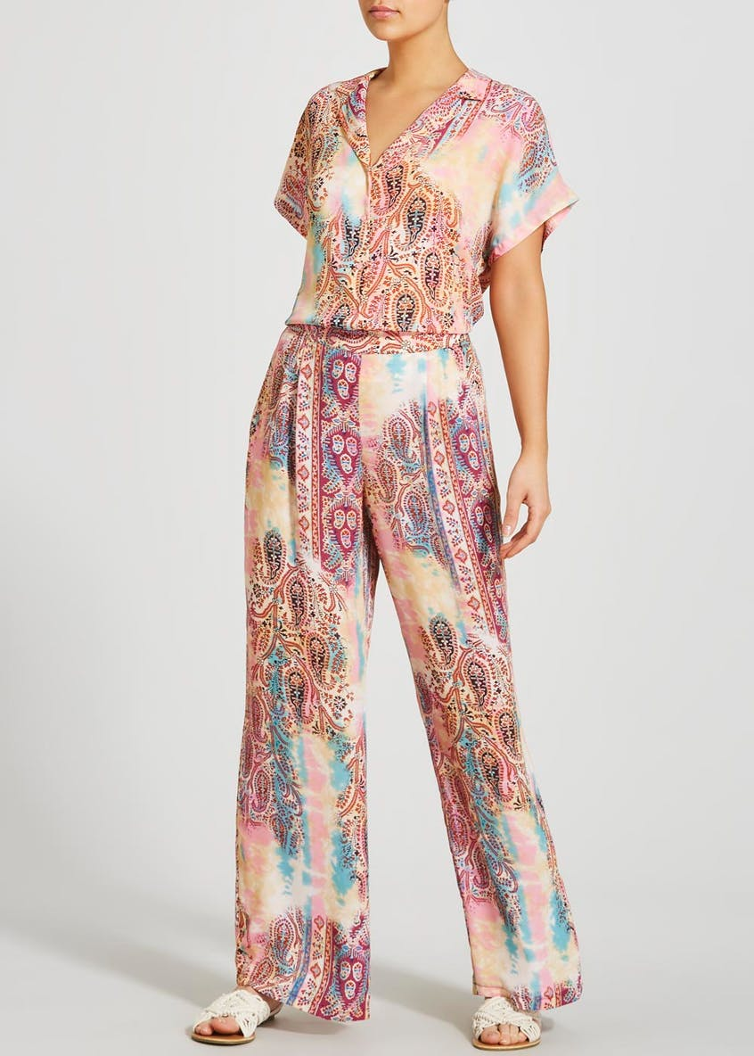 Paisley Tie Dye Co-Ord Resort Shirt