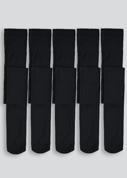 Girls 5 Pack 40 Denier Opaque Tights (6-13yrs)