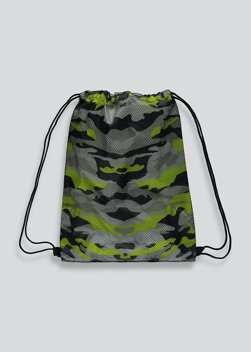 Kids Camo Mesh Pump Bag
