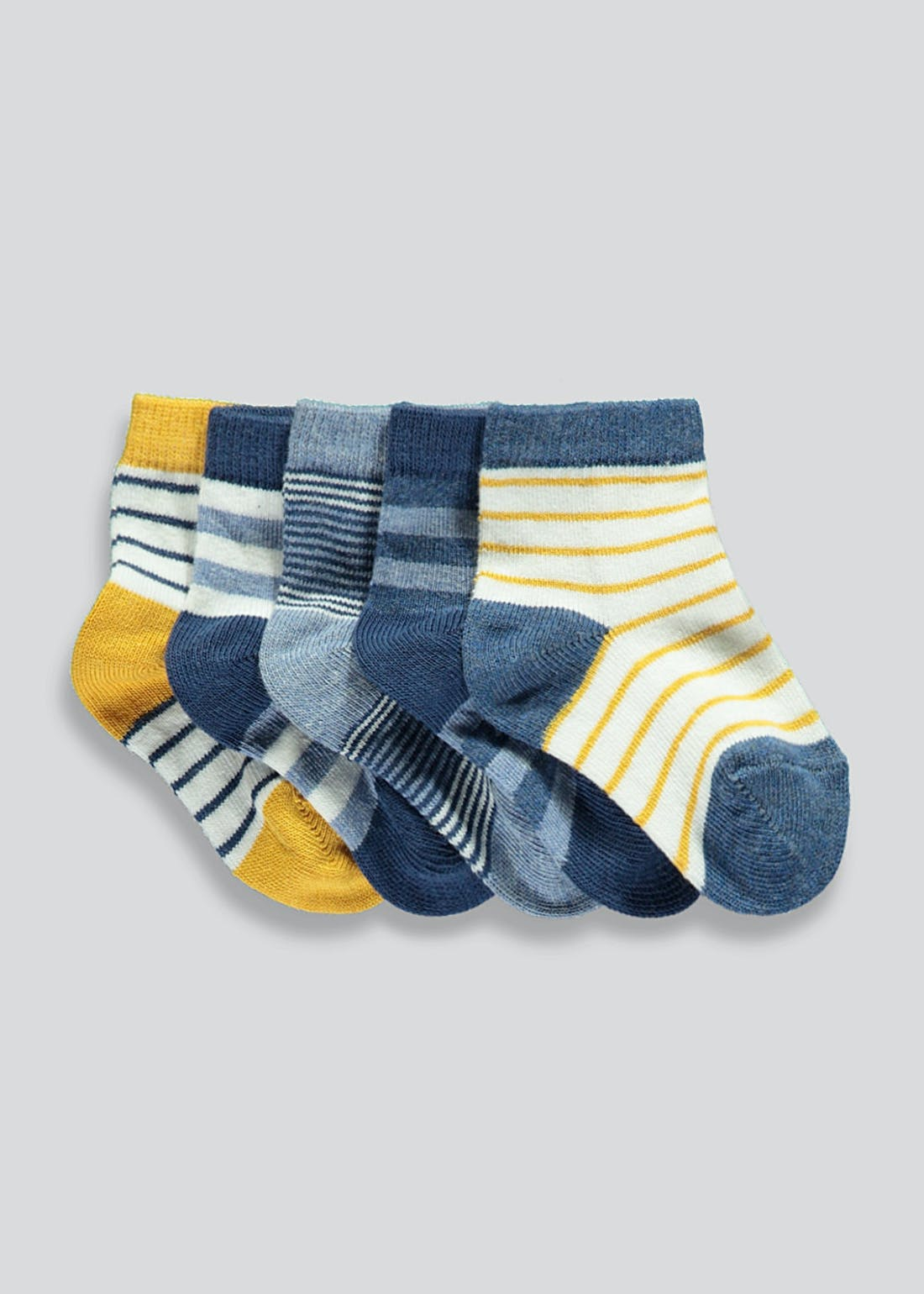 Unisex 5 Pack Stripe Socks (Newborn-8.5)