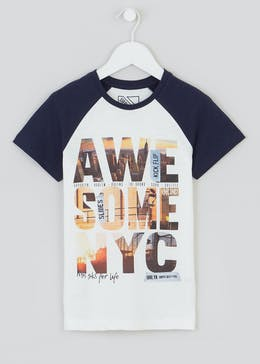 Boys Awesome Slogan T-Shirt (4-13yrs)