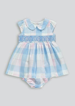 Girls Check Dress & Knickers Set (Newborn-18mths)