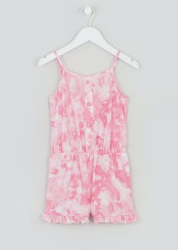 Girls Tie Dye Button Playsuit (4-13yrs)