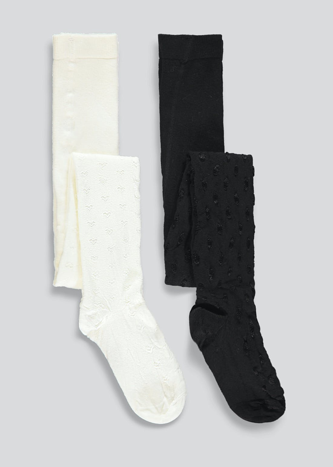 Girls 2 Pack Patterned Tights (2-11yrs)
