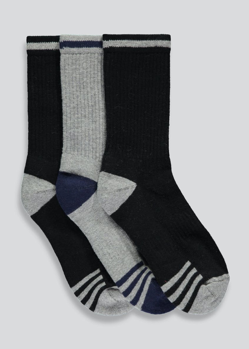 Kids 3 Pack Sports Socks (Younger 6-Older 6.5)