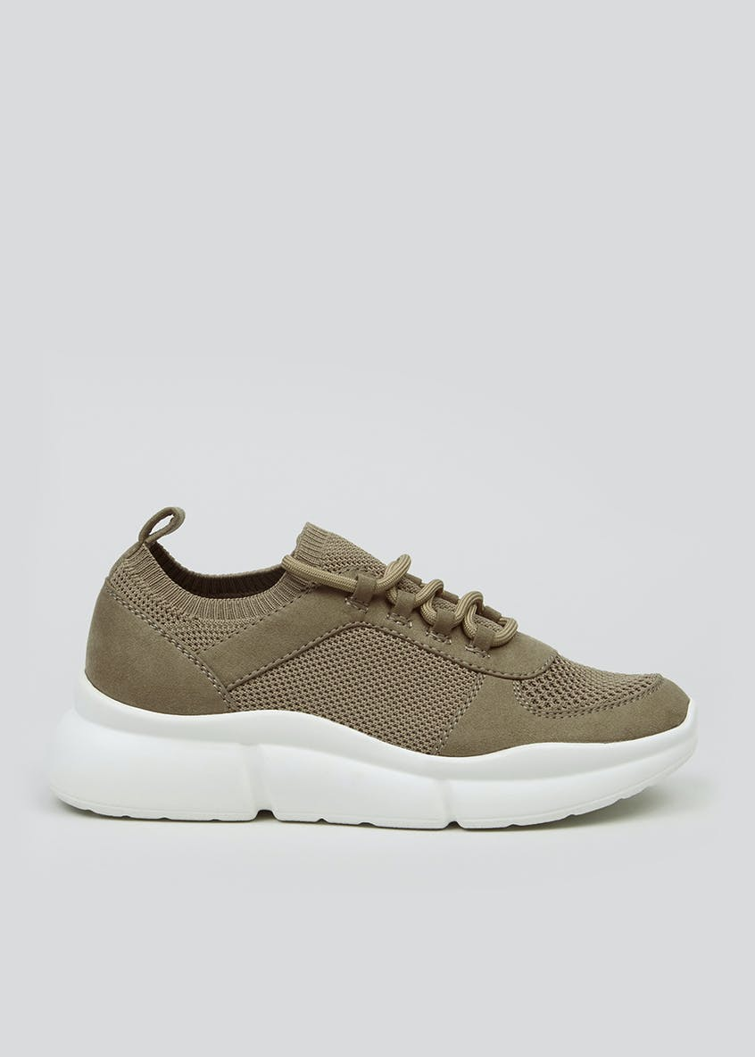Elastic Lace Chunky Trainers