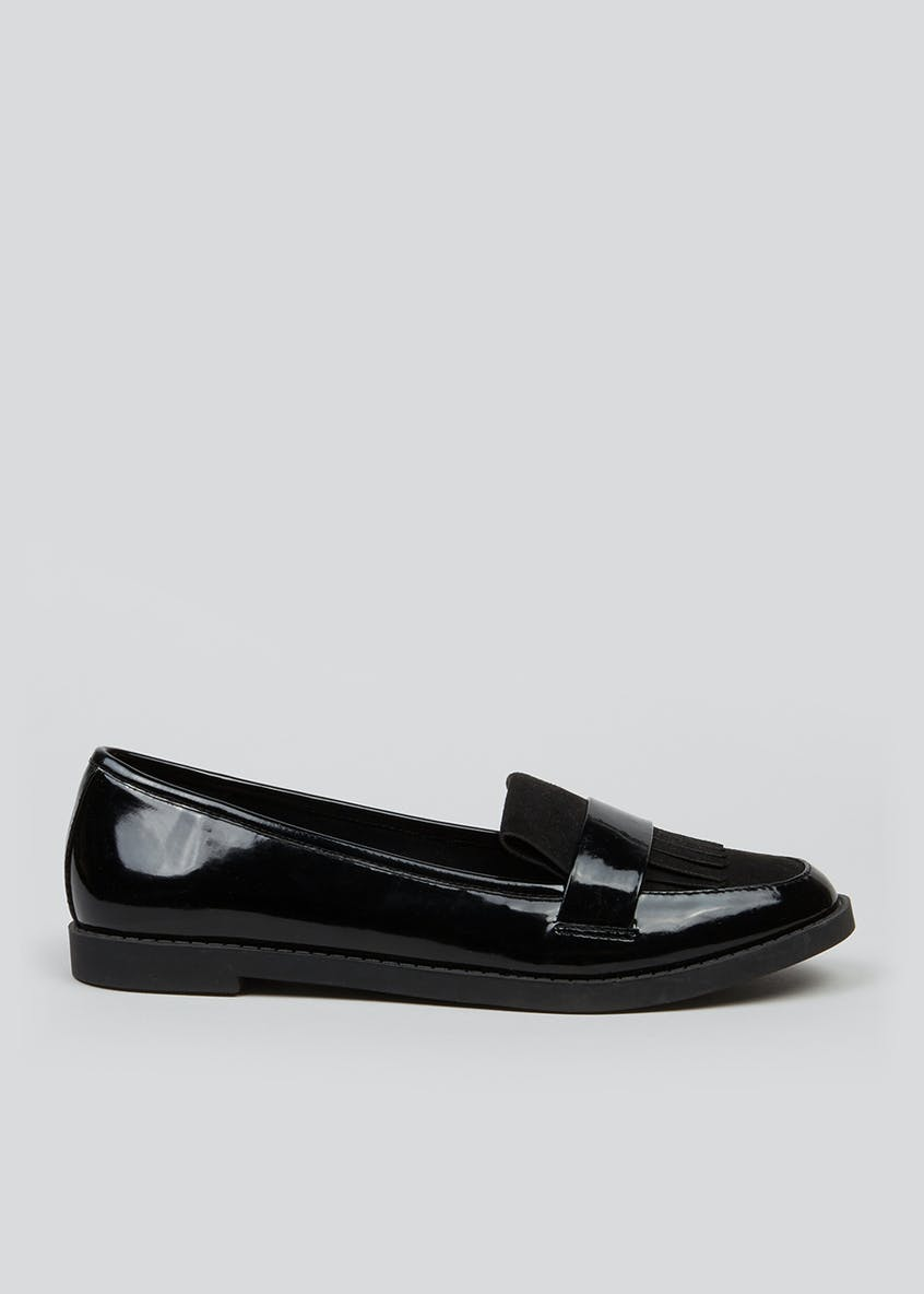 Patent Fringe Loafers