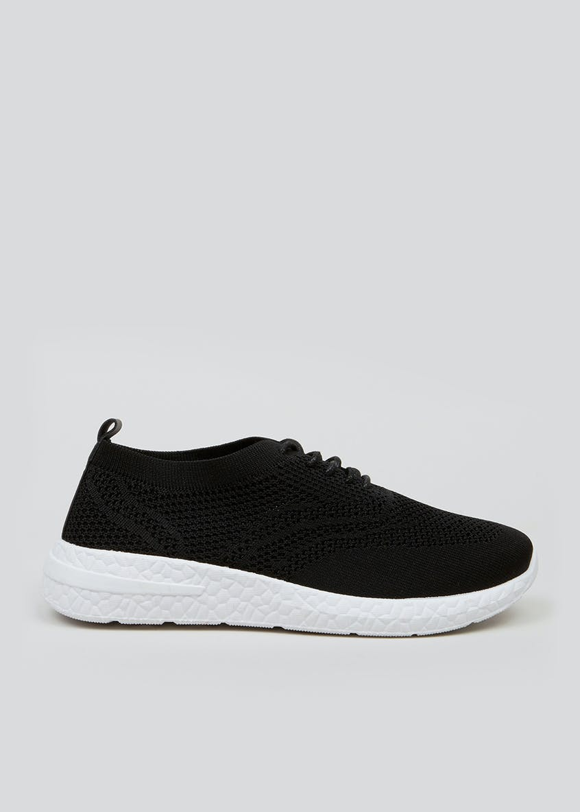 Black Lightweight Knitted Trainers
