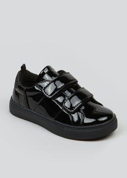 Girls Patent Double Riptape Trainers (Younger 4-9)