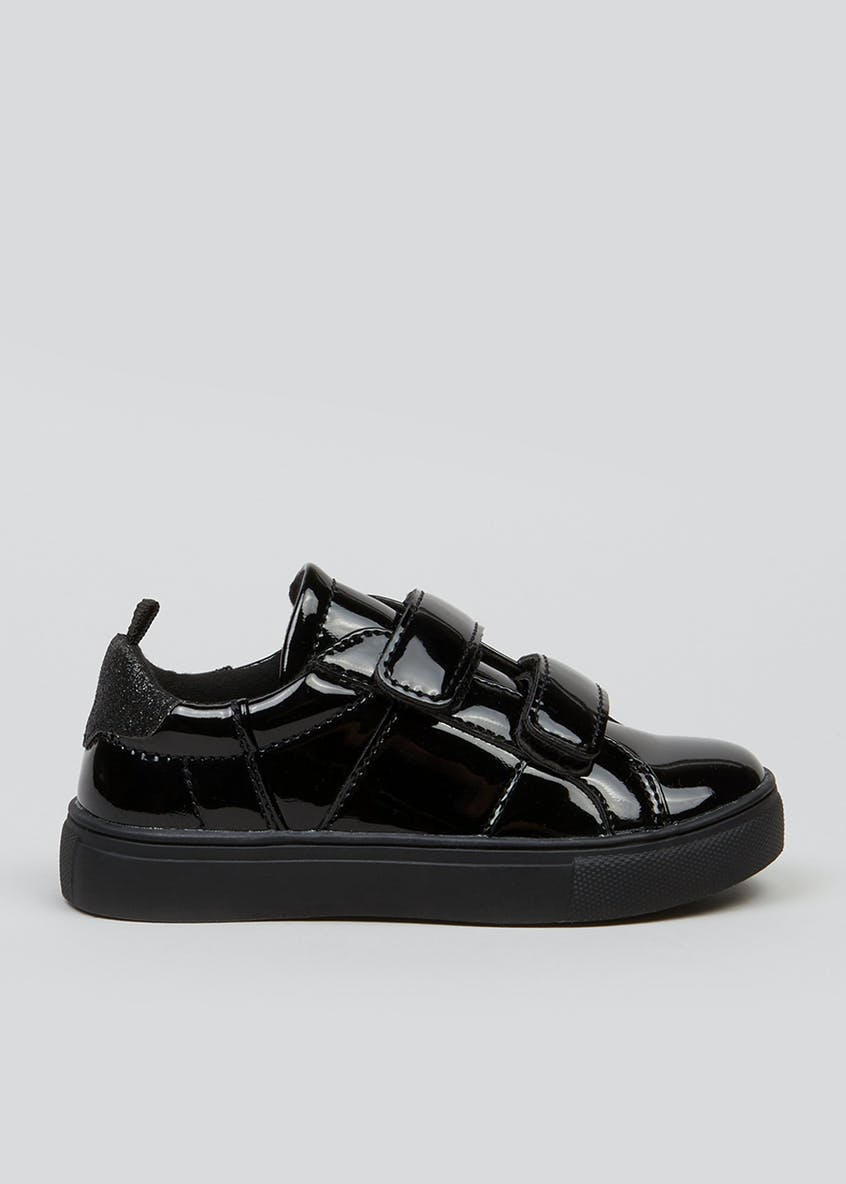 Girls Black Patent Trainers (Younger 4-9)