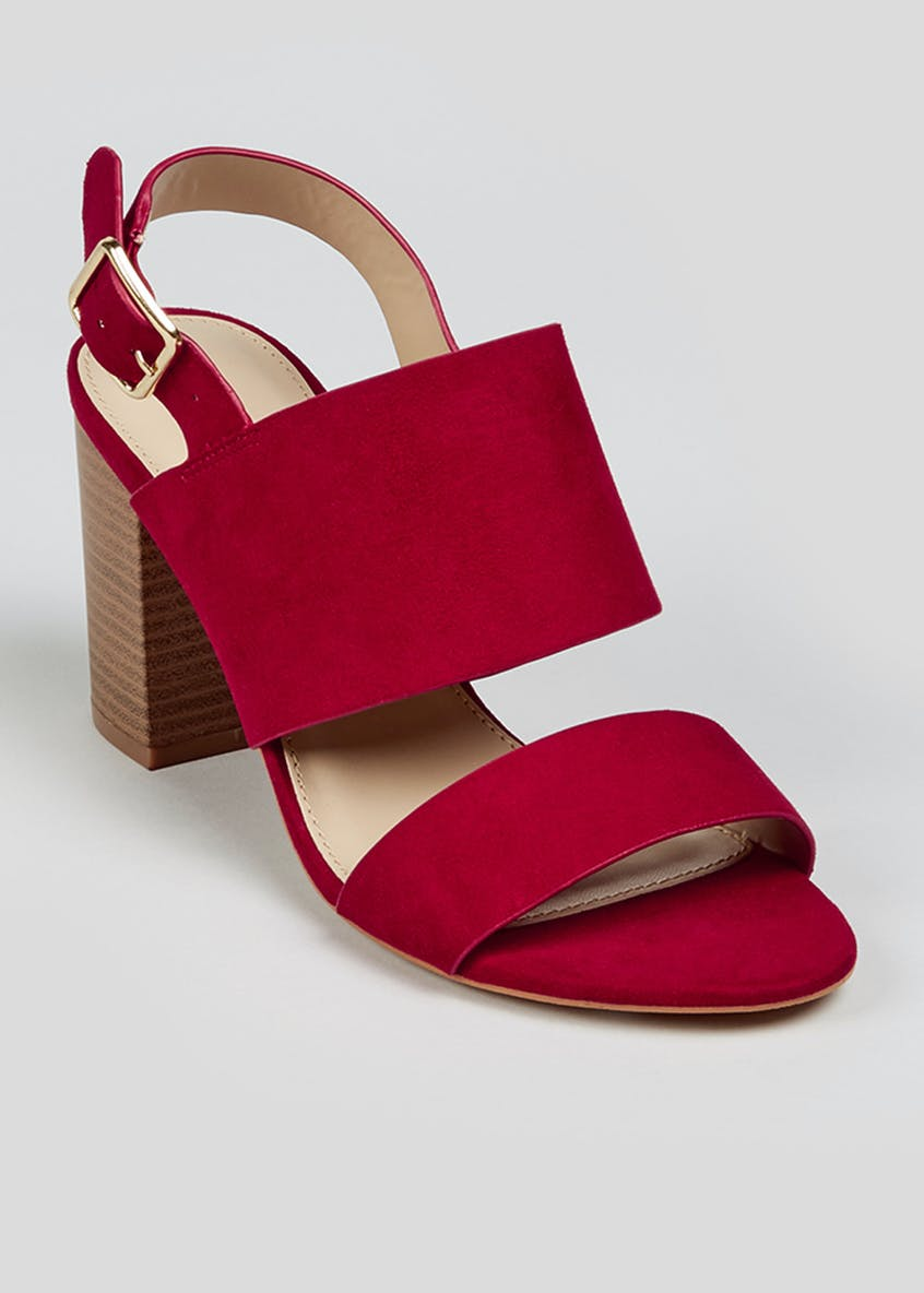 Sling Back Block Heel Sandals